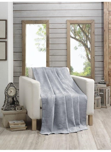 Komfort Home Tek Kişilik Darcy Pamuklu Battaniye 150x200 Cm Renkli